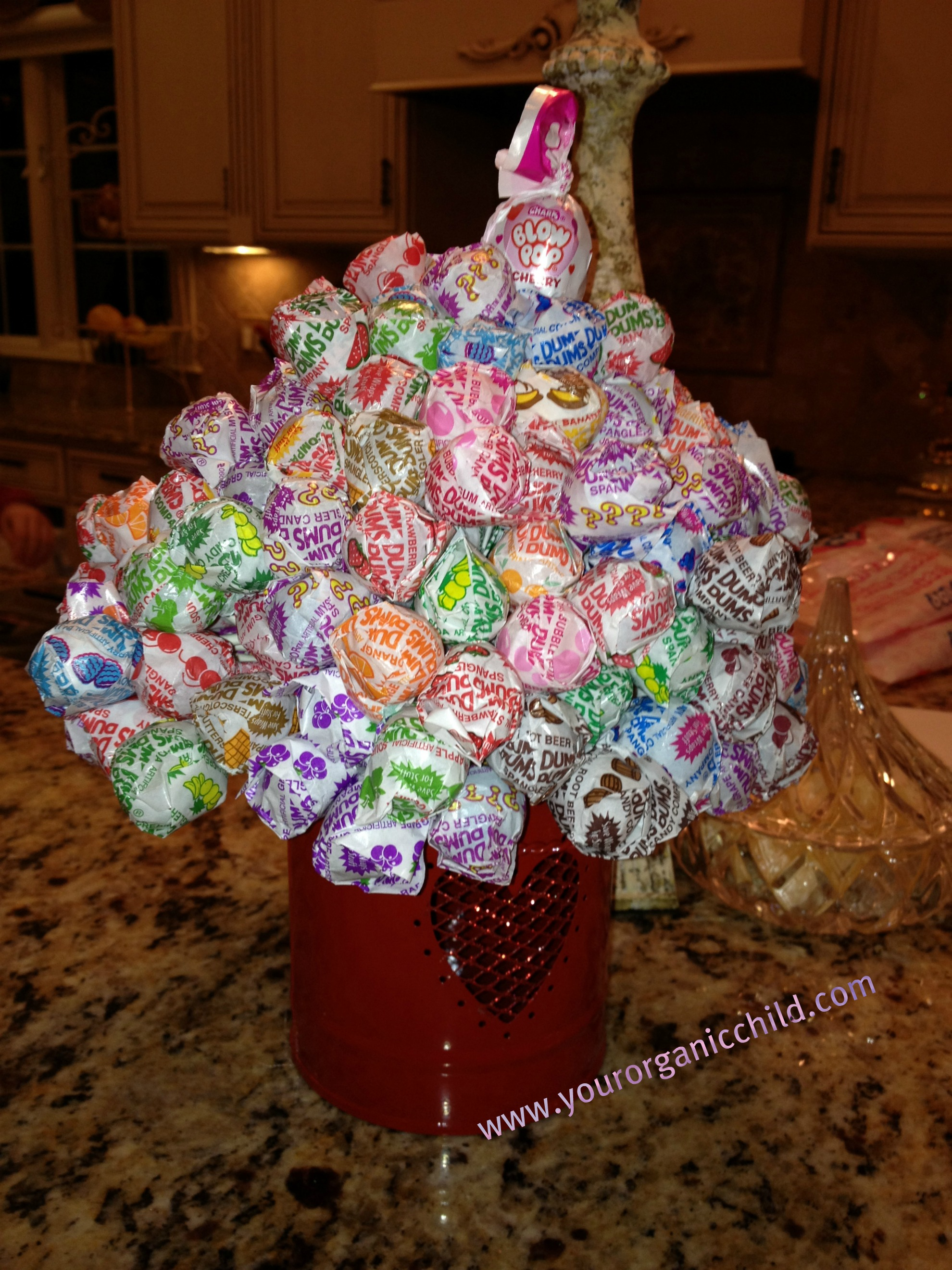 Valentine's Lollipop Craft For Kids